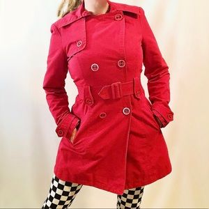 Vintage Costa Blanca red trench coat